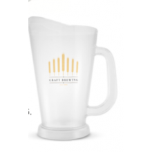 Frosted Plastic Draft Pitcher