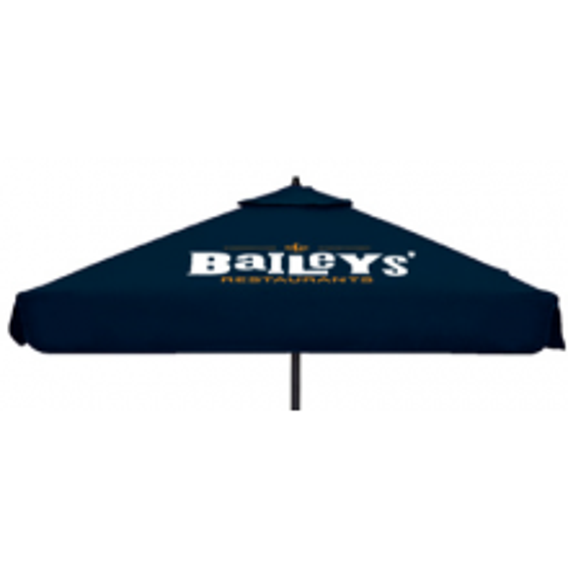 6' Square Steel Market Umbrella with Valence Domestic