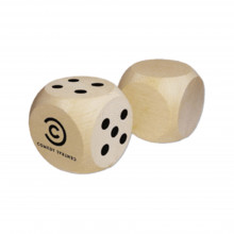 Promotional Giant Wooden Dice - Custom Branded