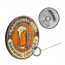 Wall Mounted Hook and Ring Toss Game