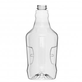 Clear plastic growler