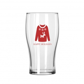 Libbey Tulip Holiday Sweater Glass 16 oz