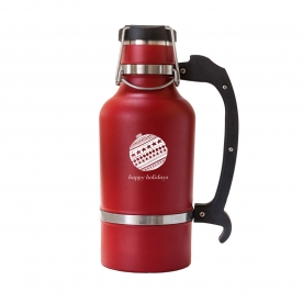 Red 64 oz Holiday Ornament DrinkTanks™ Growler
